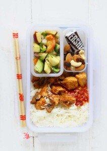 Crispy Honey Chicken, Rice, Salad