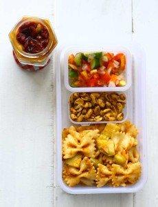 Red Sauce Pasta, Salad, Parfait