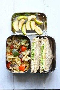 Pasta, Cold Sandwich, Fruits