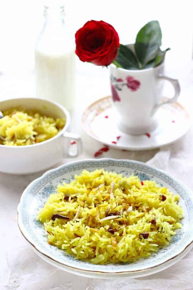Meethe Chawal or the sweet pulao is considered one of the most auspicious dishes in Punjabi Cuisine. Find how to make perfect Meethe Chawal Recipe