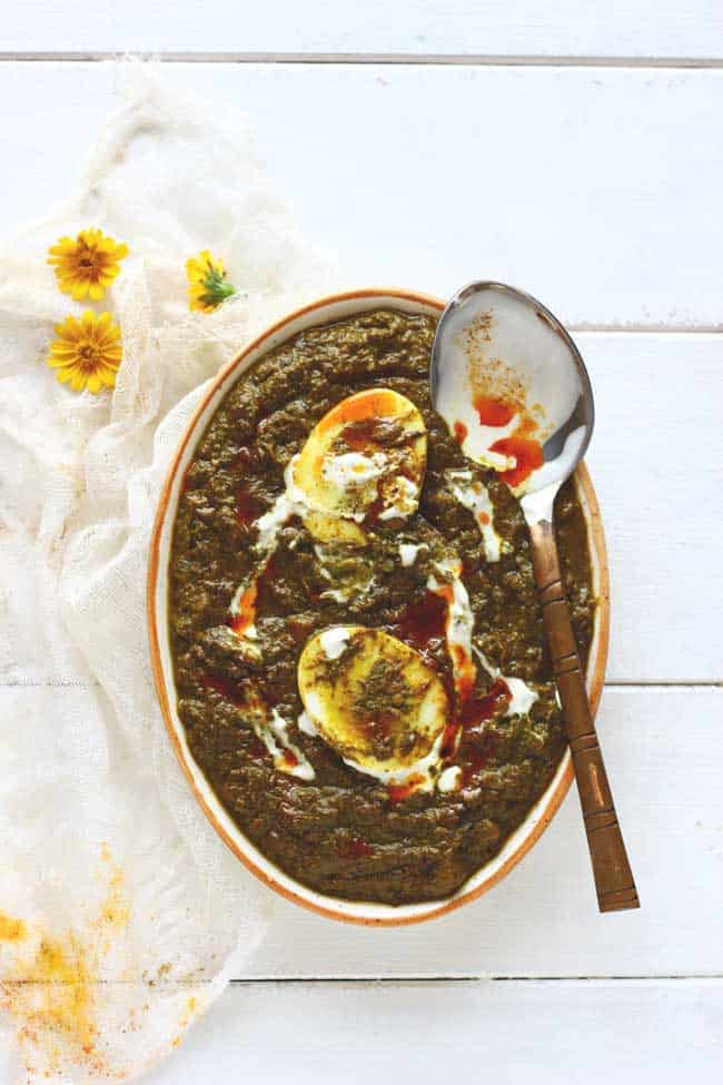 The idea of Palak Anda Curry sounds so much exciting! It is 100% gluten free and super delicious. best way to have spinach and eggs.