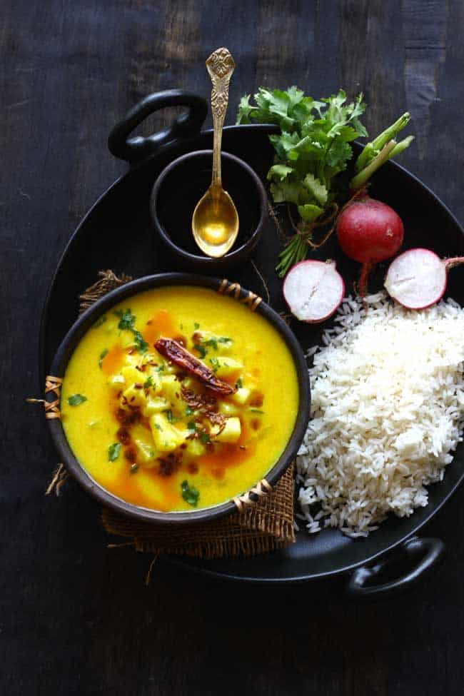Mooli Ki Kadhi is one of the best summer curry recipes. It is light on the stomach, big on flavors and requires your minimal time near the stove.