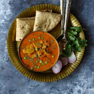together with total of the most gratifying curry flavors that are certain to warm y'all upwards Easy Matar Mushroom Masala