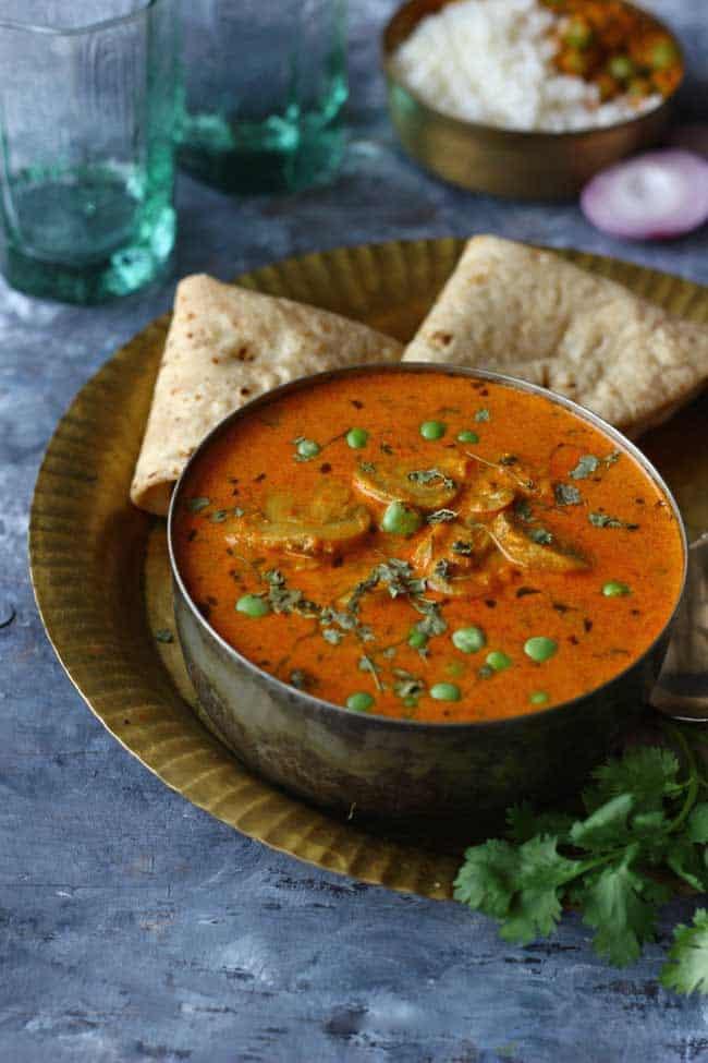 Recipe of Mushroom Masala with Gravy