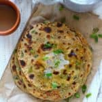 Spring Onion and Paneer Paratha