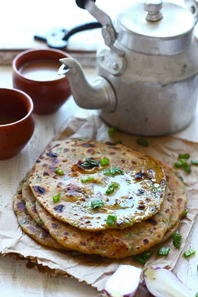 Spring OnionSpring Onion and Paneer Paratha is a wholesome, delicious and super-easy breakfast recipe. Learn how to make Spring Onion and Paneer Paratha in few simple steps and Paneer Paratha