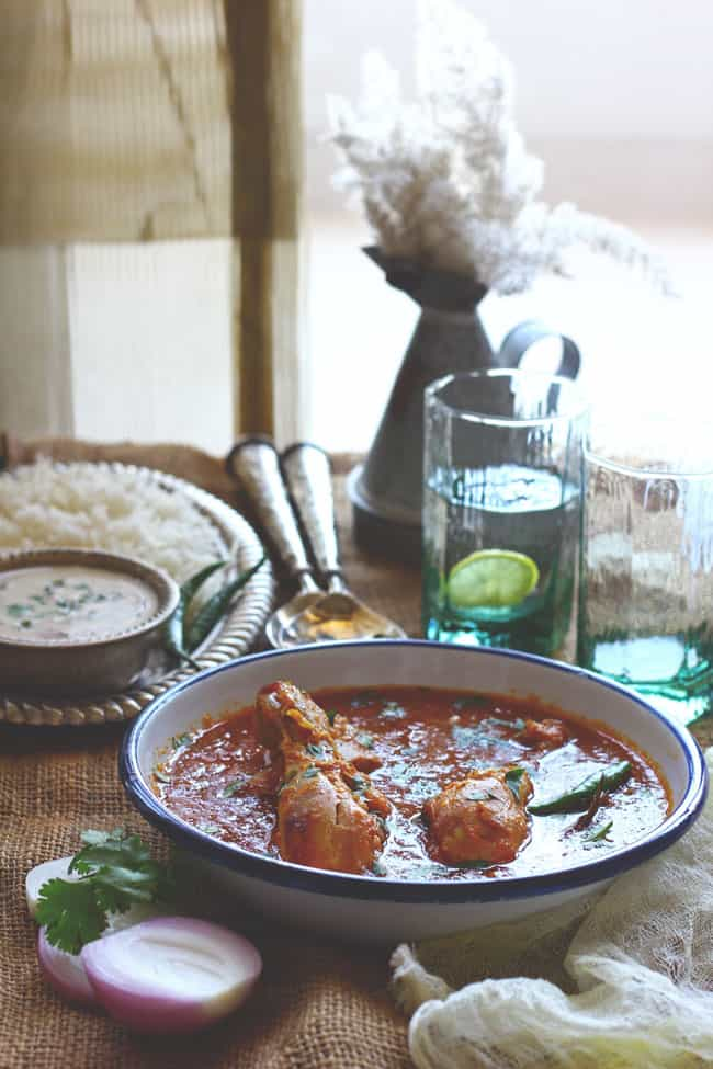 Looking for chicken curry recipes? We have this delicious, home-style Indian chicken curry recipe. Easy to follow and delicious in taste.