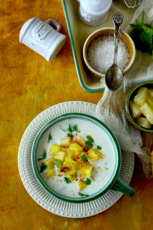 Pineapple Raita is a delicious sweet and savory raita recipe. Find how to make restaurant style pineapple raita in few simple steps