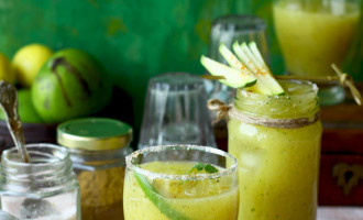Aam Panna is a savory, traditional Indian summer drink prepared with raw mango. Find how to make aam panna in few simple steps