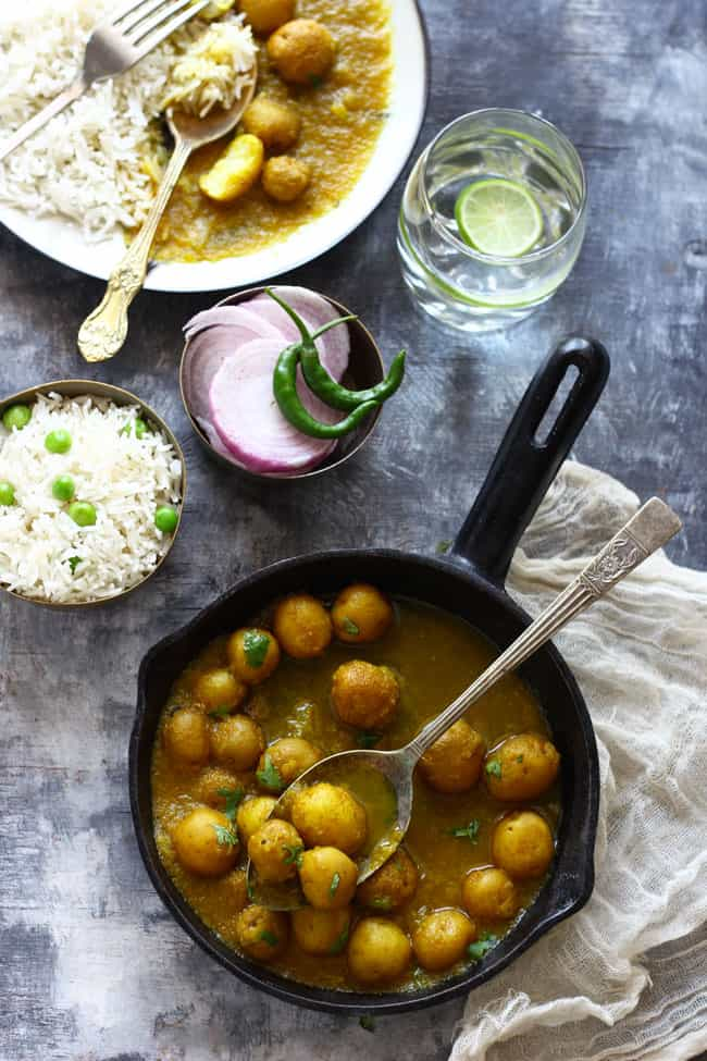 Baby Potato Curry is one of easiest and delicious potato curry recipes. Find how to make baby potato curry in few simple steps