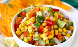 This Corn Salsa is everything I love – sweet, savory, spicy, crunchy and fresh. Find how to make corn salsa recipe in few simple steps