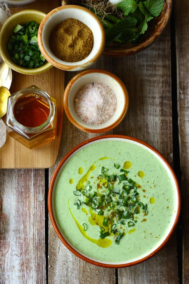 This Spring Onion Raita is vegetarian, healthy and 100& gluten-free. Find how to make spring onion raita in less than 20 minutes