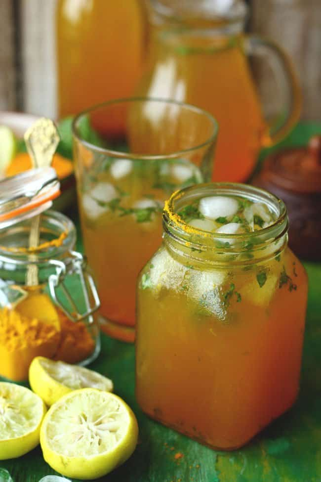 together with all the rut together with liberate energy accumulated throughout the hateful solar daytime needs to hold upward gently dissolved i Turmeric Lemonade Recipe