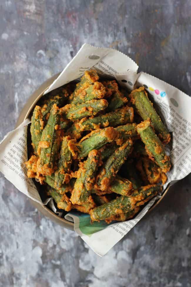 Besan Bhindi Fry Recipe
