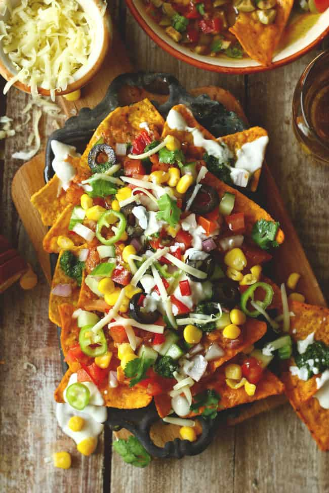 Loaded Nachos Vegetarian