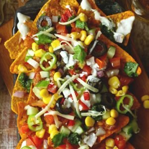 It is 1 of those appetizers that postulate less than  Loaded Vegetarian Nachos (Video Recipe)