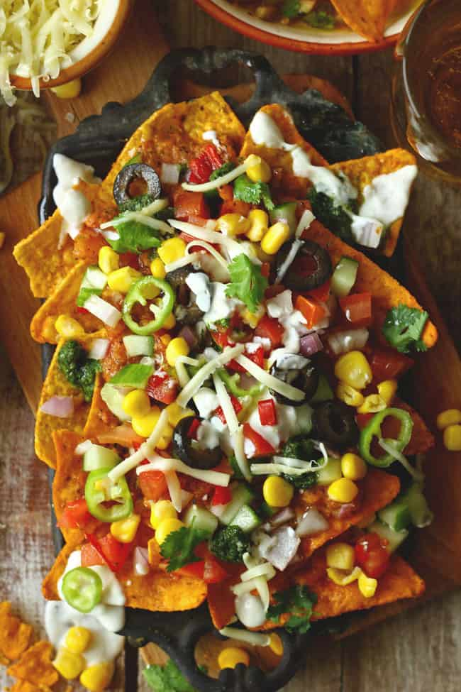 Loaded Vegetarian Nachos recepi