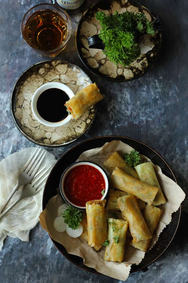 how to make Veg Spring Roll