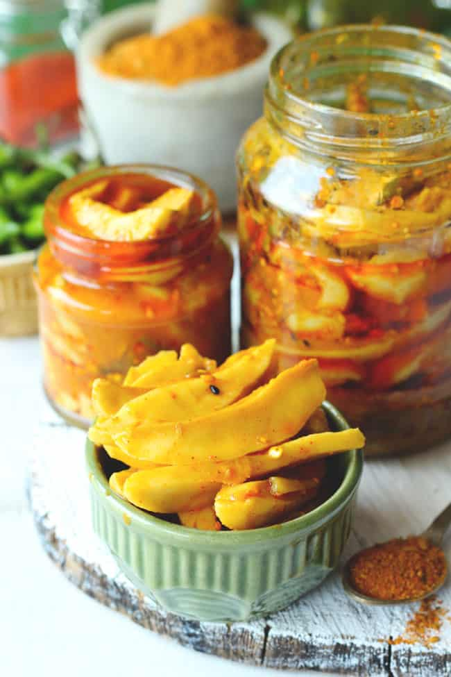 Instant Mango Pickle is a delectable mango pickle recipe that is ready to eat in few hours. Find how to make an Instant Mango Pickle