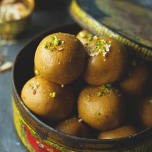 Besan Ladoo is one of the delicious, gluten-free Indian sweet prepared with gram flour and ghee.