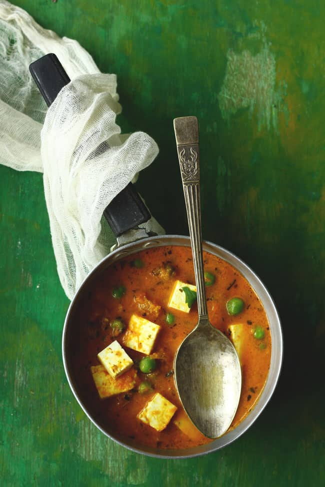 A delicious Indian paneer curry