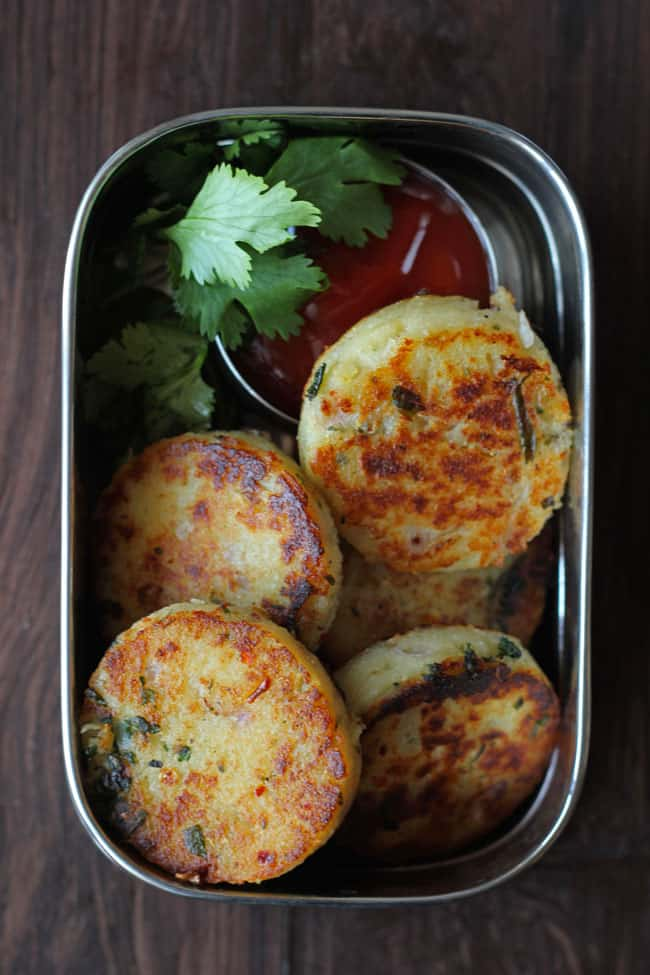 Cheese Rava Cutlet