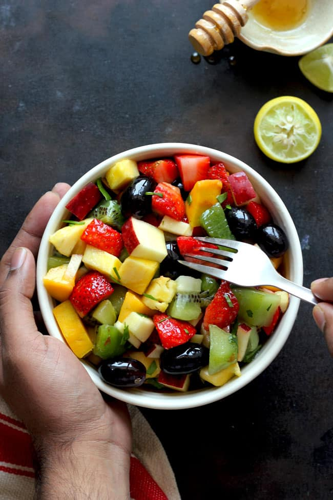 Summer Fruit Salad In A Bowl