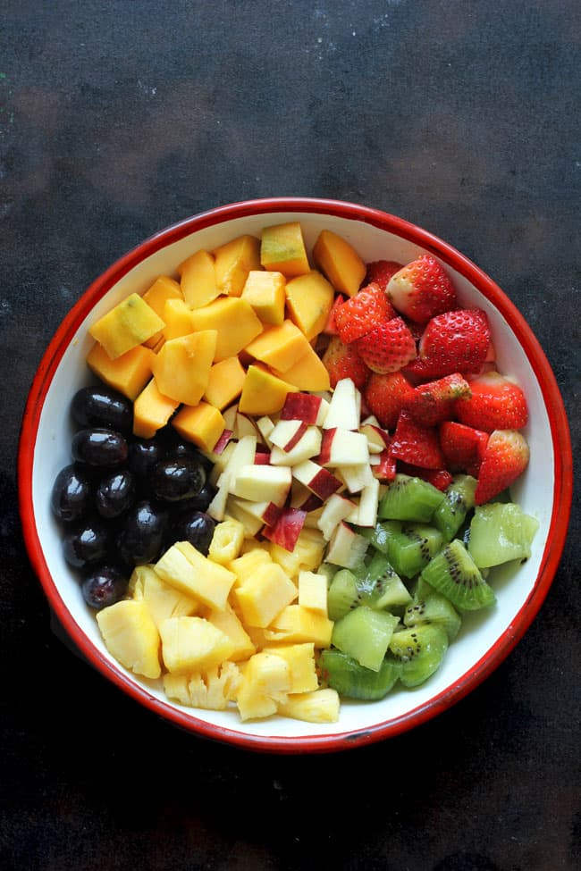 Chopped Summer Fruits For Salad