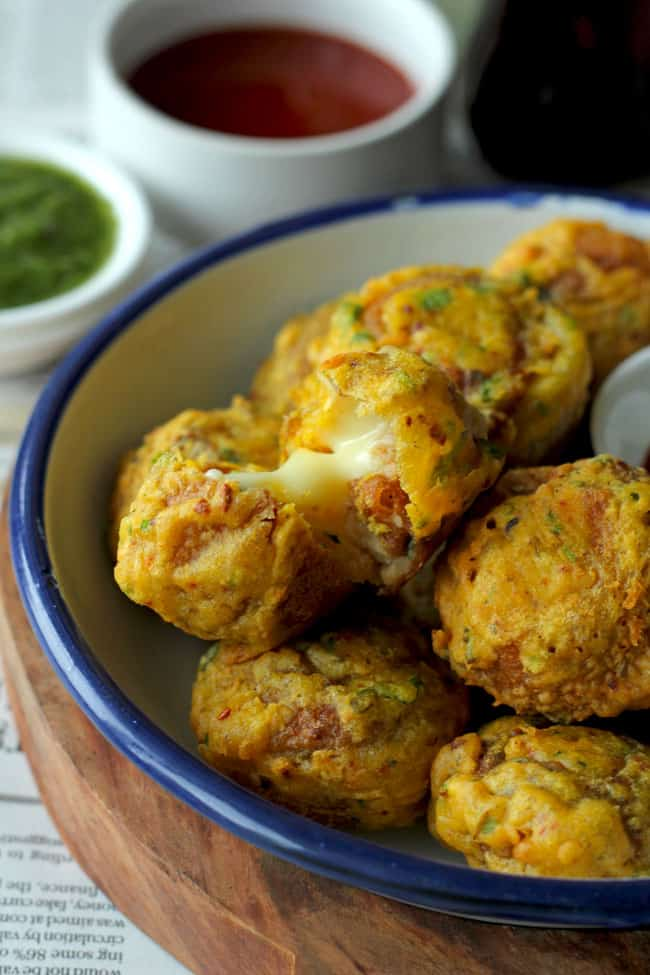 Best Indian Food Recipes : Cheese Golgappa Pakora