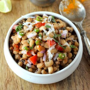 Lobia Chaat is a simple, delicious and gluten-free healthy Indian recipe for a salad. Find how to make delicious lobia chaat.