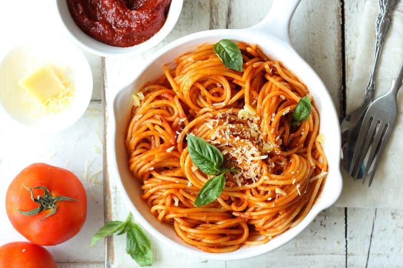 Red Sauce Spaghetti