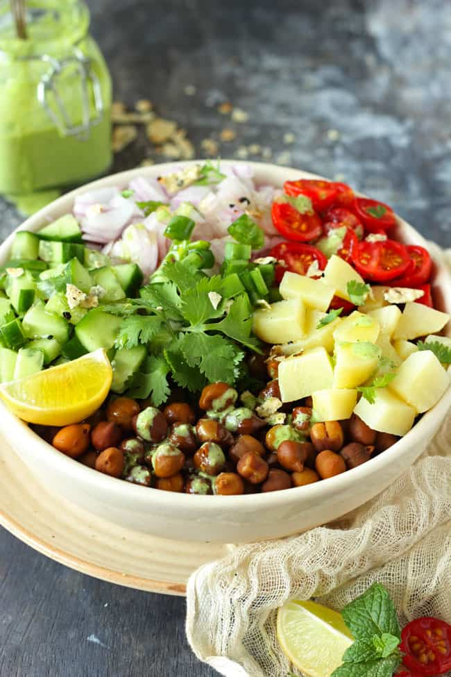 Healthy Indian Kala Chana Salad