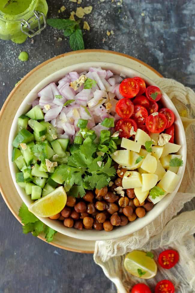 Healthy Indian Kala Chana Salad