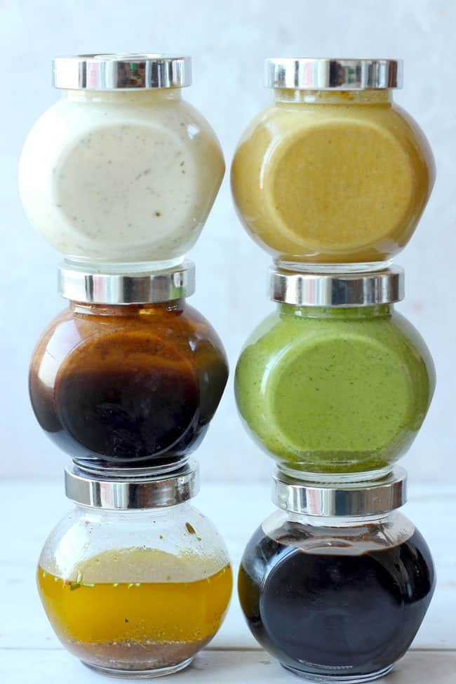 Bright, colorful and delicious these homemade salad dressings will help you create tons of healthy salad recipes. Find best 6 salad dressing recipes.