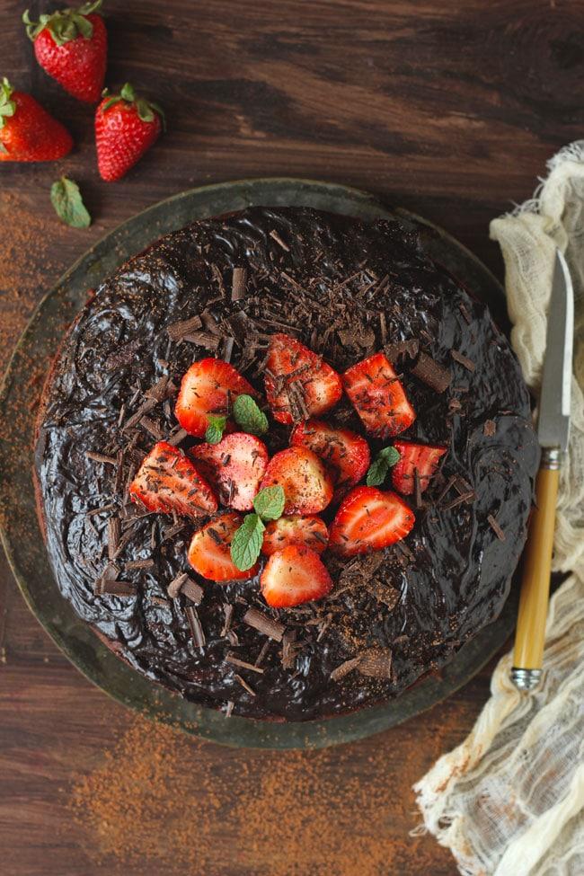 Best Eggless Chocolate Cake