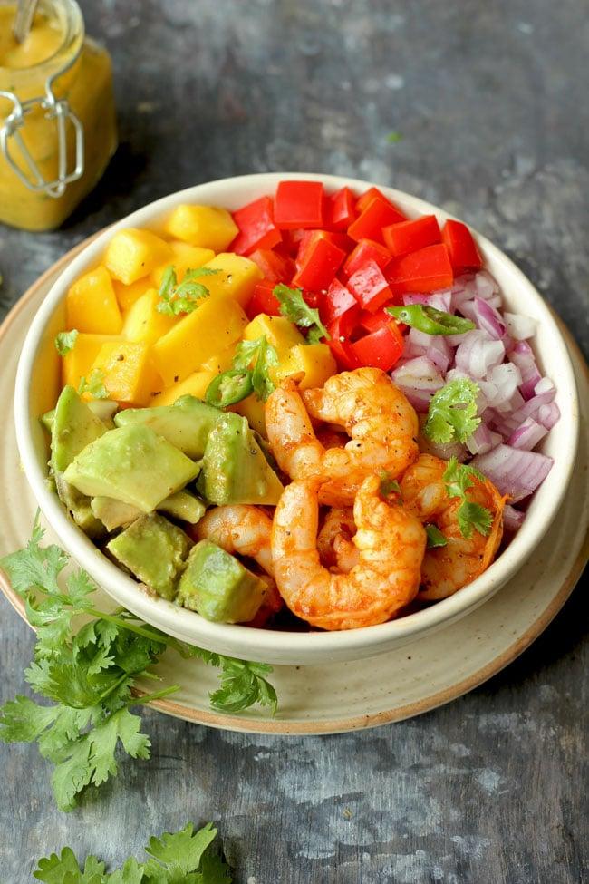 Mango Avocado Salad With Shrimps