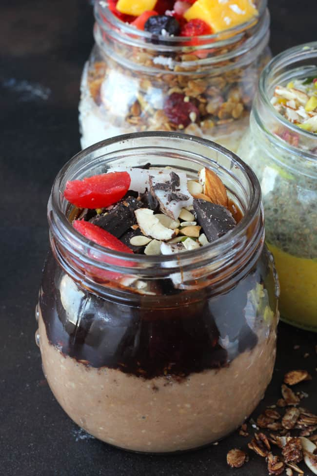 Overnight Oats Recipe in 4 Flavours