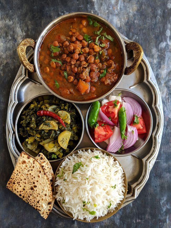 Everyday Indian Thali Meal Idea