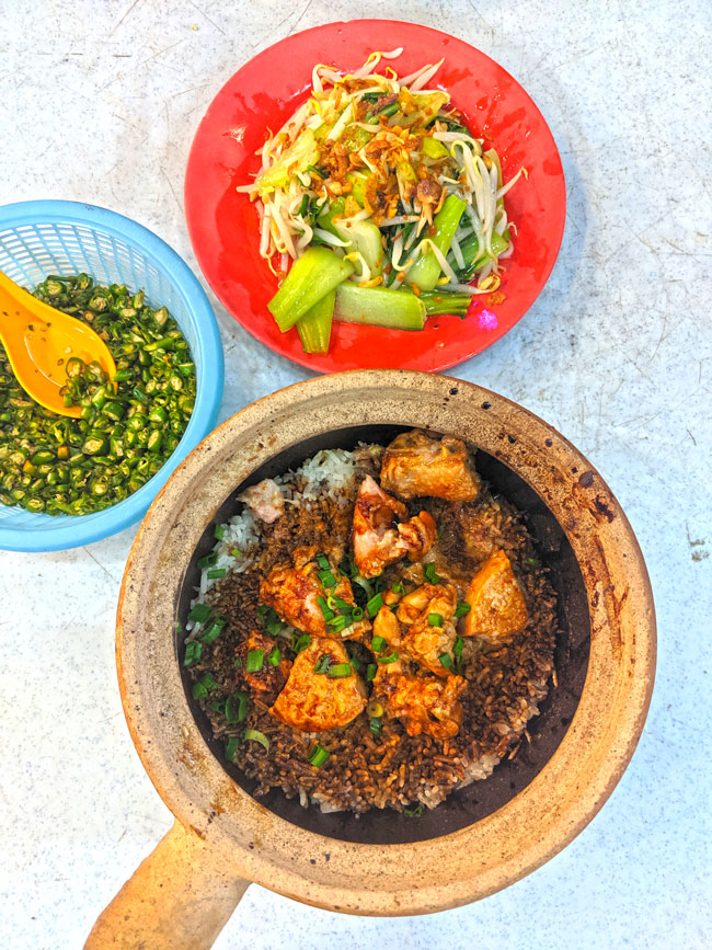 Claypot Chicken Rice at Petaling Street