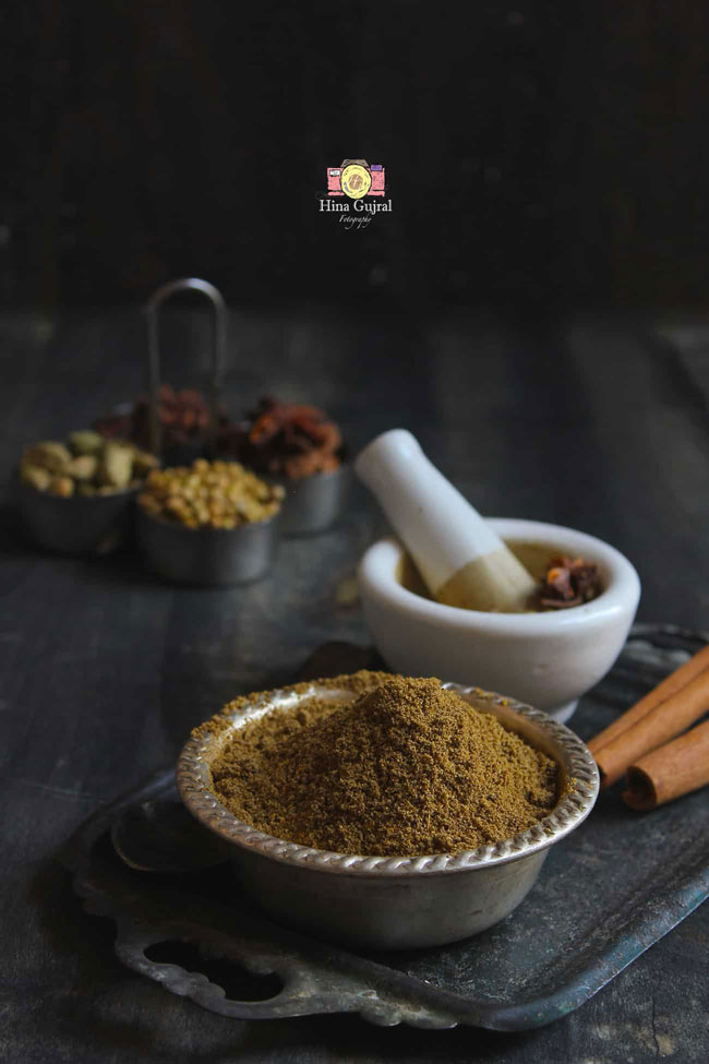 Garam Masala is a spice blend commonly used for cooking in the Indian subcontinent.