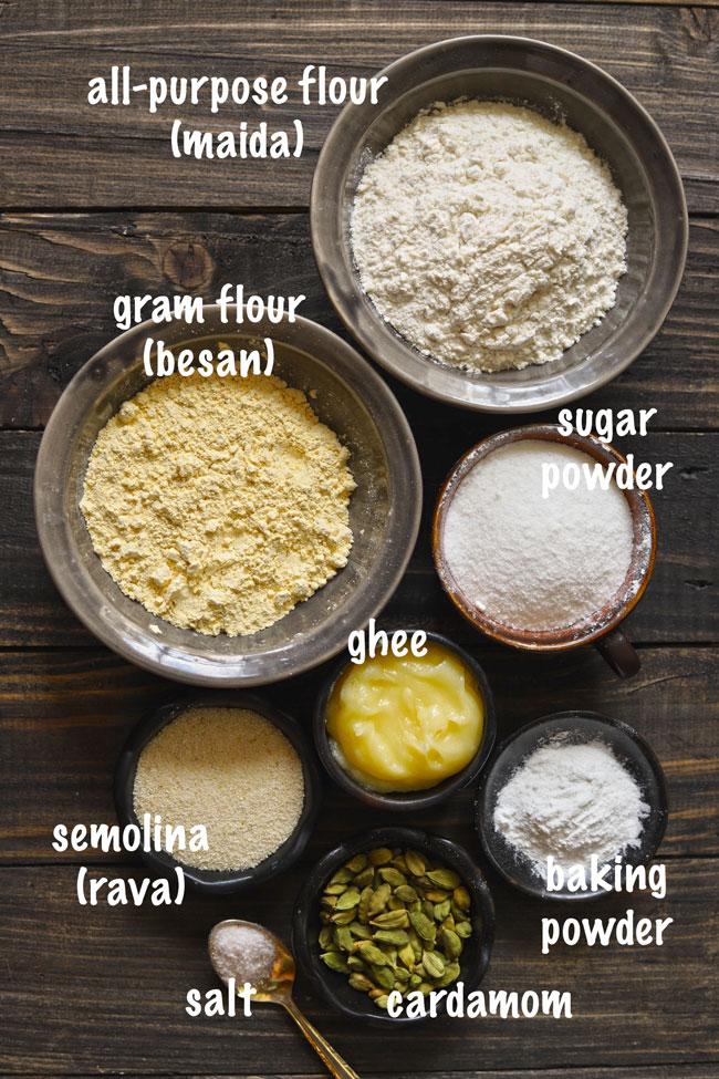 Nankhatai Ingredients