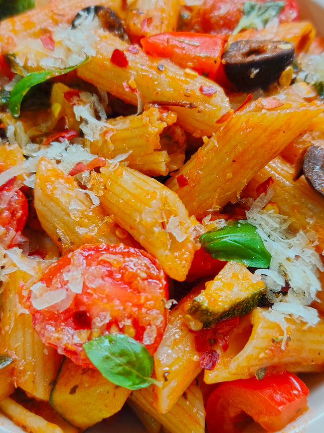 Tomato Sauce Pasta is a classic pasta recipe bursting with flavors of homemade tomato sauce.