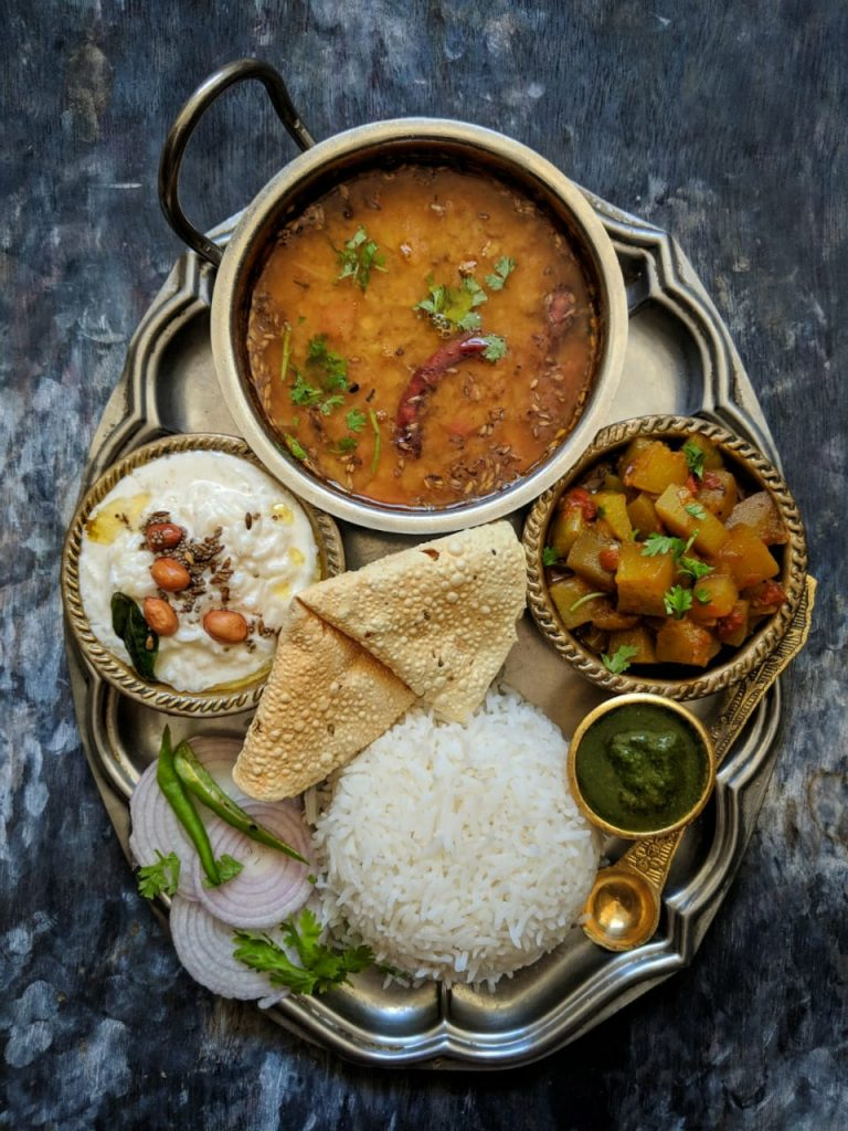 Dal Tadka Indian Thali