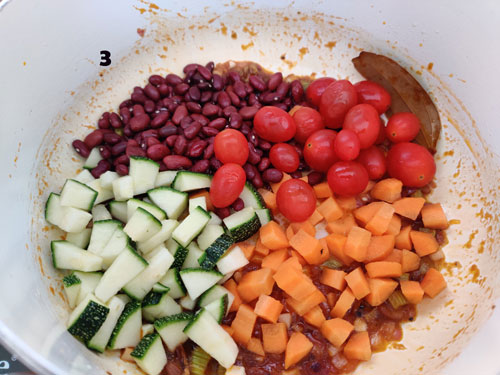 Pasta Soup cooking Steps