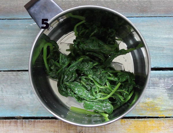 Blanched Spinach Leaves In A Mixer