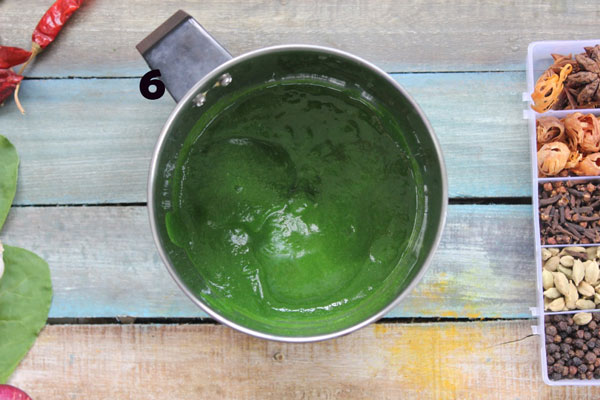 Spinach Puree In A Mixer