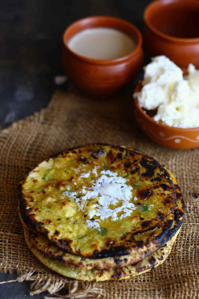 Missa Paratha With White Butter