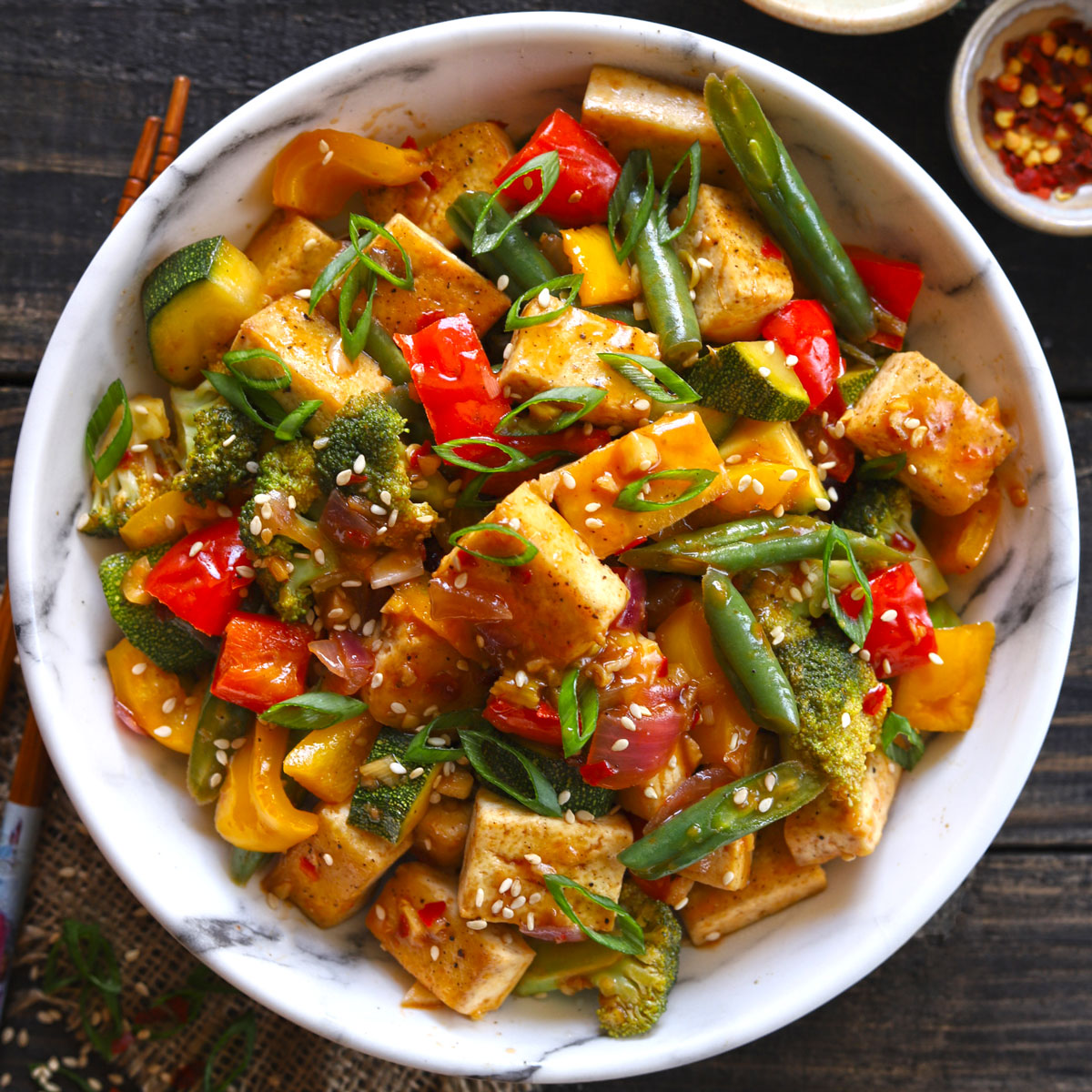 Tofu Stir Fry With Veggies Vegan Gluten Free Fun Food Frolic