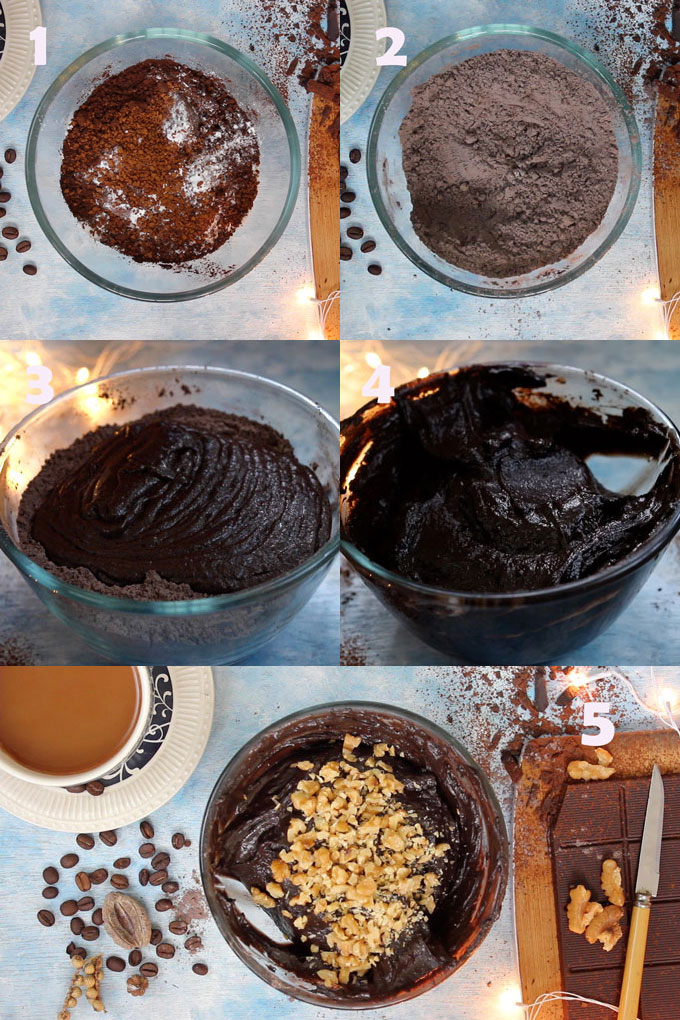 Eggless Brownies Cooking Steps