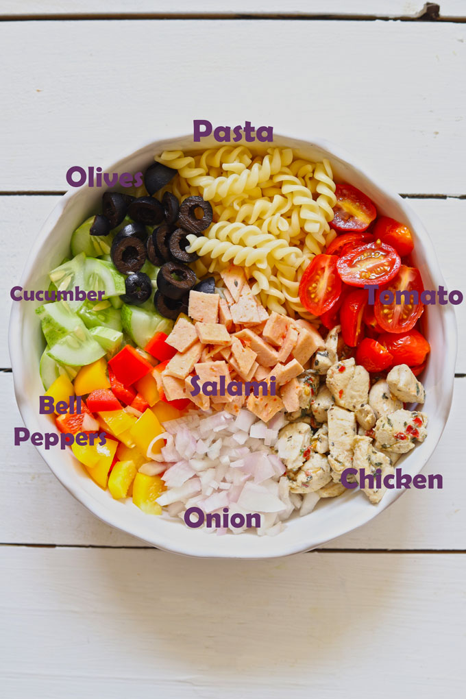 Ingredients For Pasta Salad With Chicken